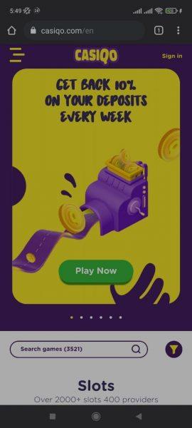 CasiQo Casino Mobile App