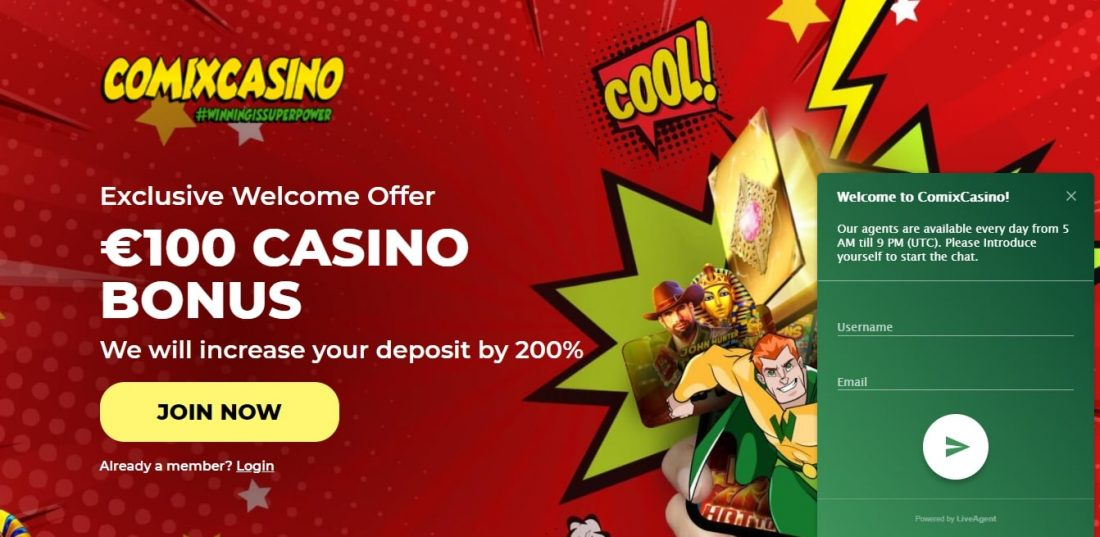 Comix Casino Customer Support