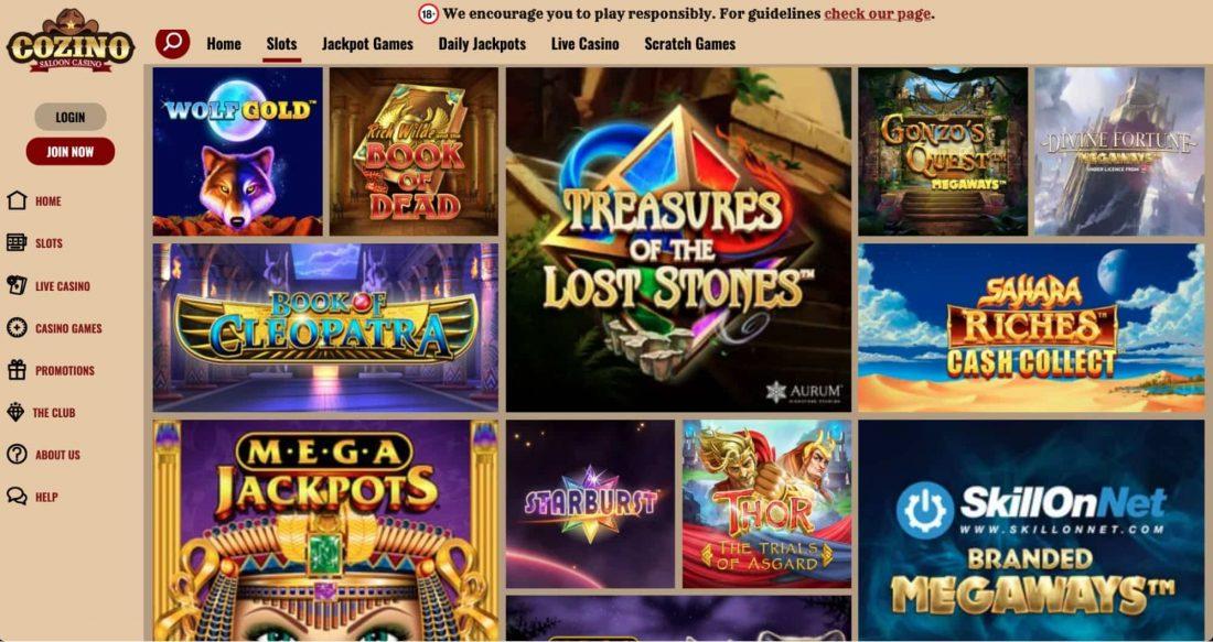 Cozino Casino Games