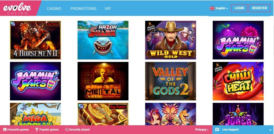 Evolve Casino Games