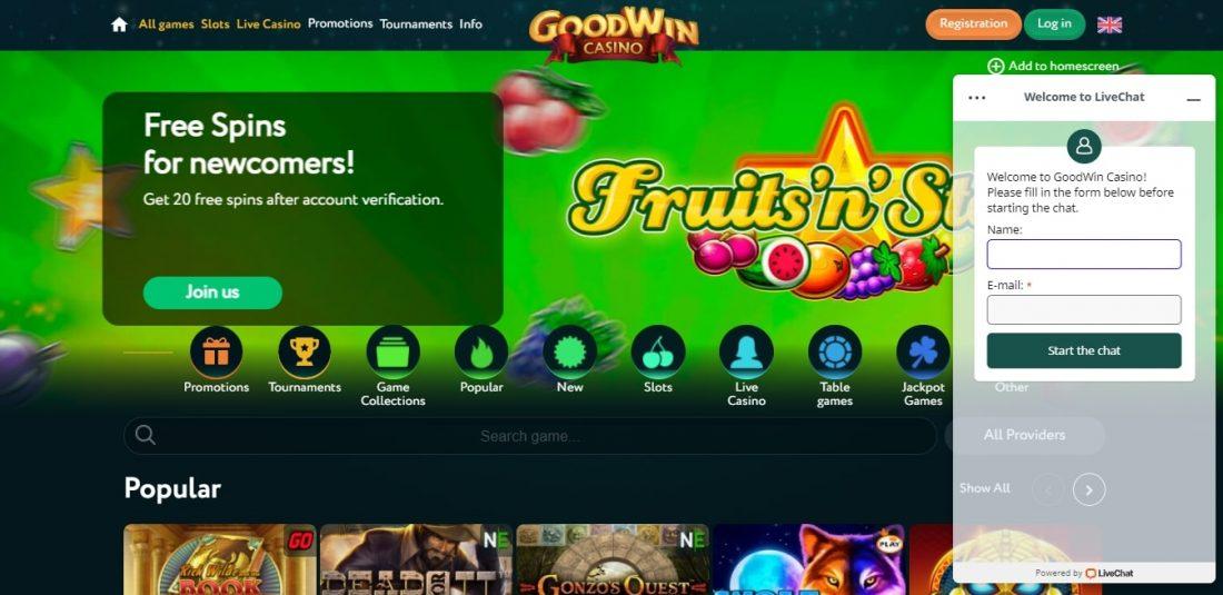 Goodwin Casino Customer Support