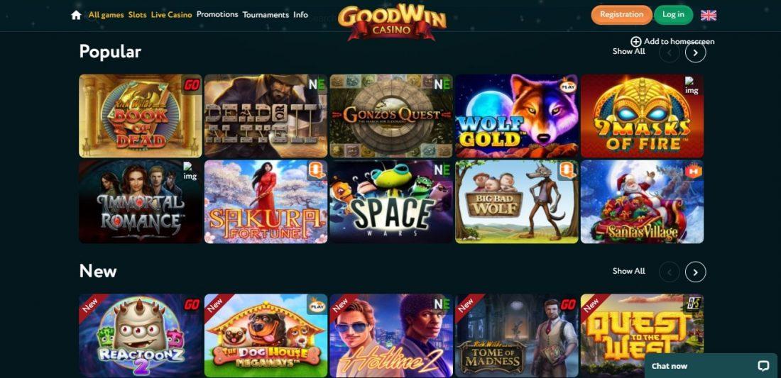 Goodwin Casino Games
