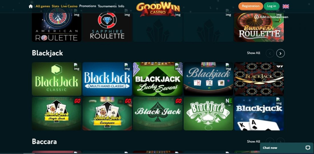 Goodwin Casino Table Games