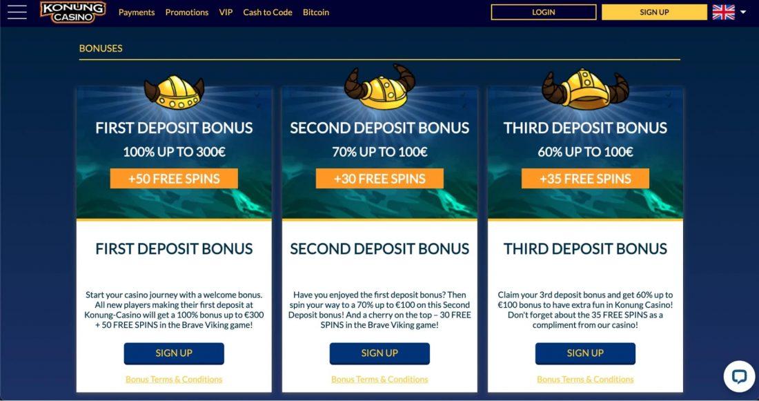 Konung Bonuses and Promotions