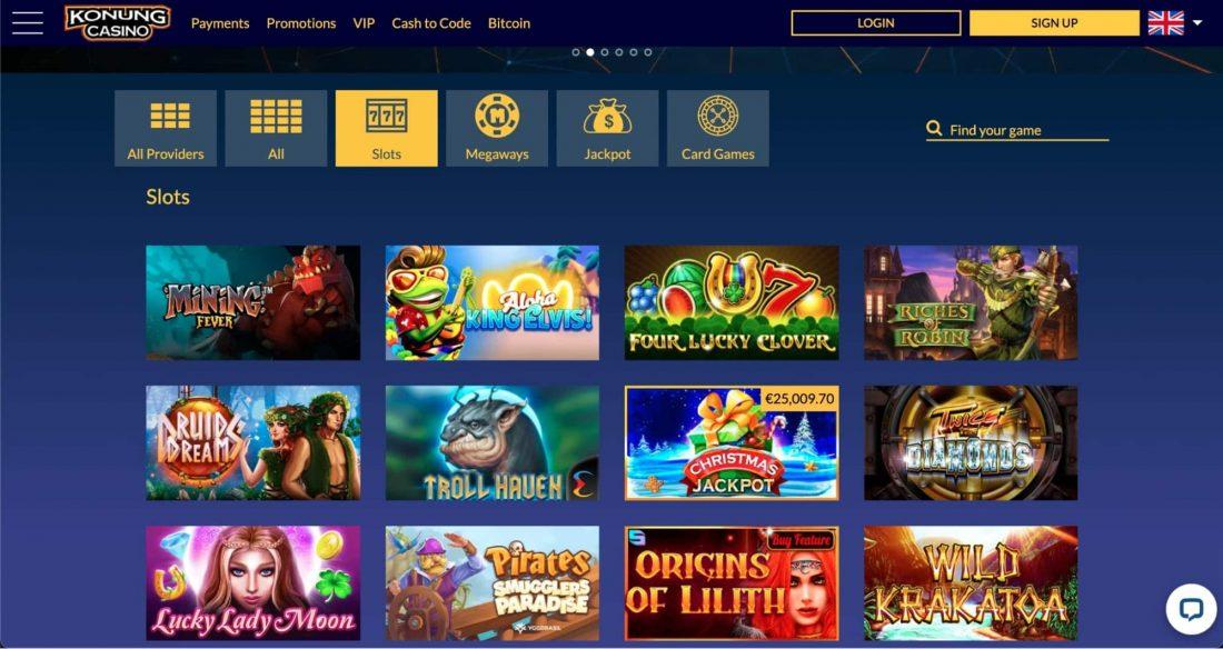 Konung Casino Games
