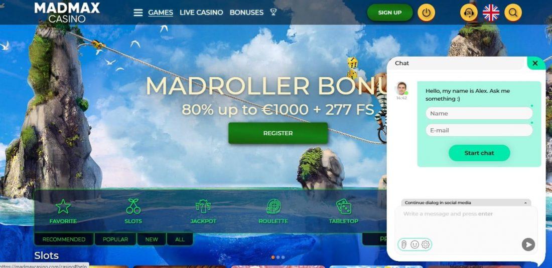MadMax Casino Customer Support