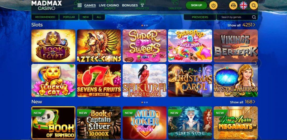 MadMax Casino Games