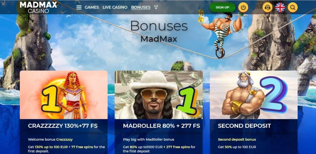 Madmax Casino Welcome Bonus