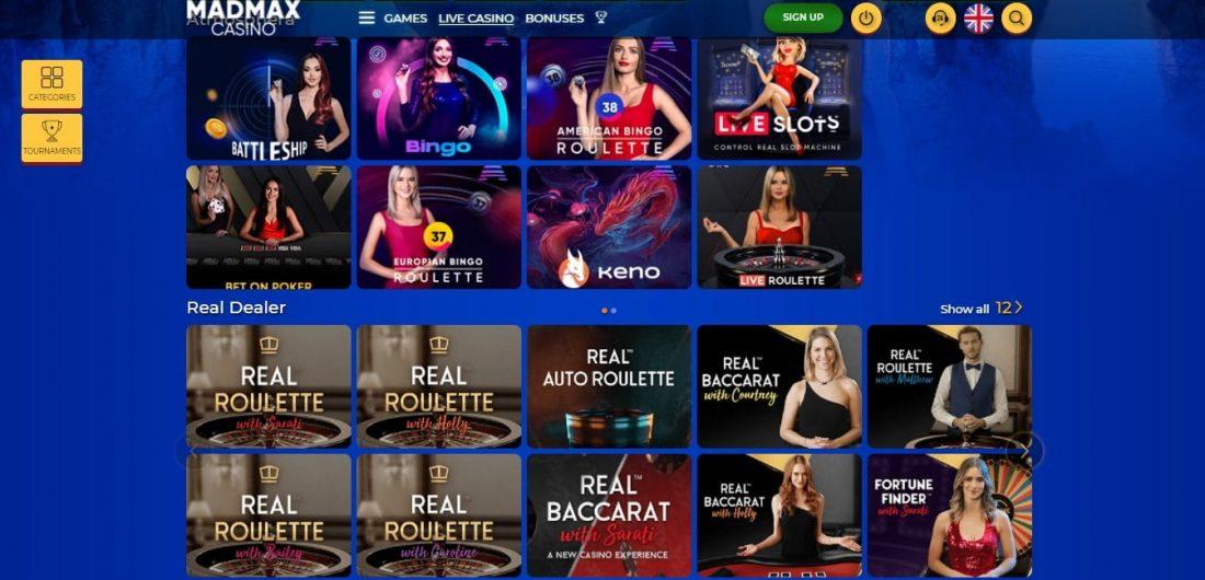 MadMax Live Casino