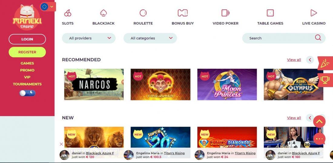 Maneki Casino Games