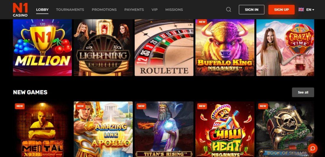 N1 Casino Video Poker