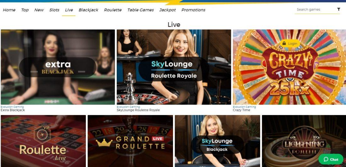 Pronto Casino Live Casino