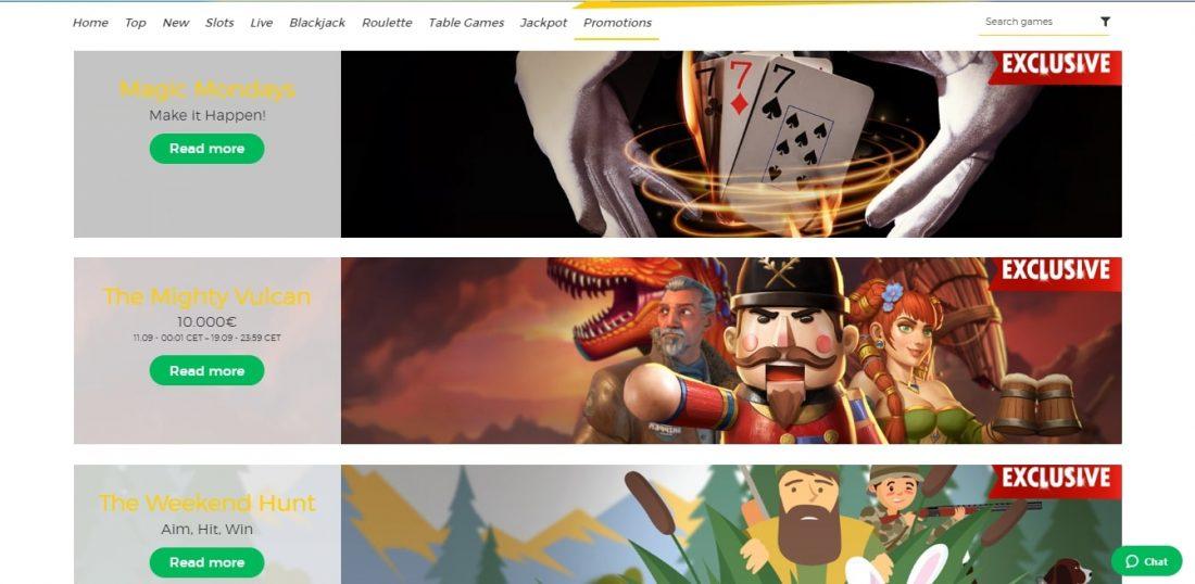 Pronto Casino Welcome Bonus