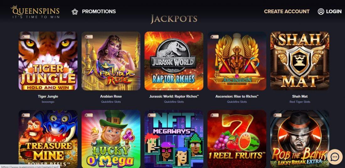 QueenSpins Jackpots