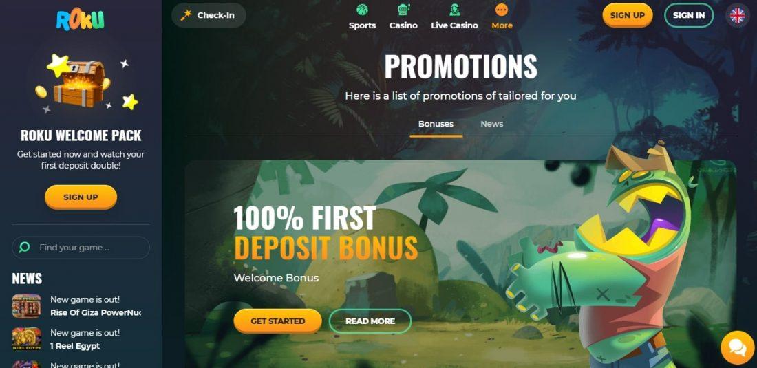 Roku Casino Welcome Bonus