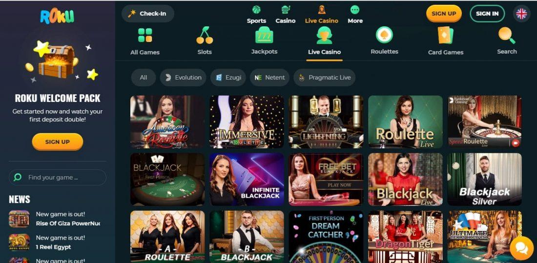 Roku Live Casino