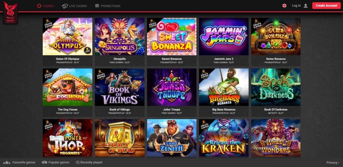 Royal Rabbit Casino Games