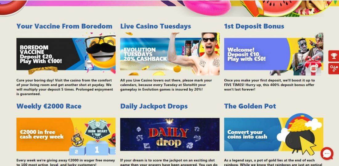 Slotohit Casino Welcome Bonus