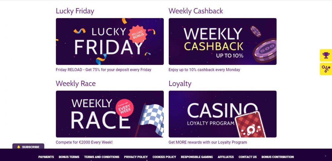 Slototop Casino Cashback