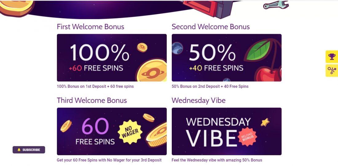 Slototop Casino Welcome Bonus