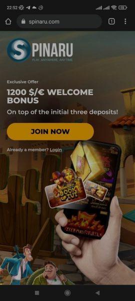 Spinaru Casino Mobile App