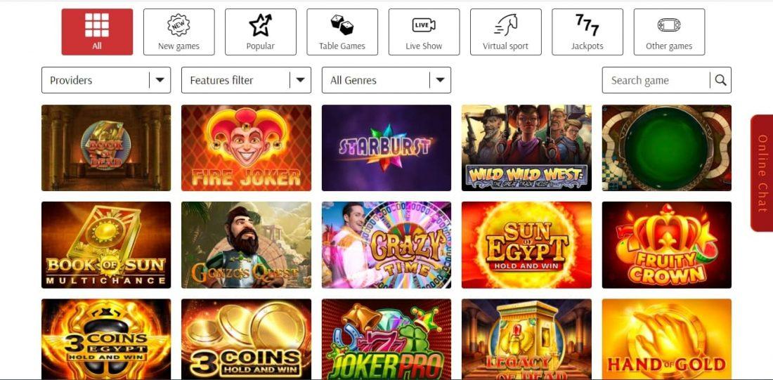 Supercat Casino Games