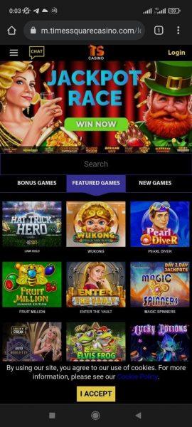TS Casino Mobile App