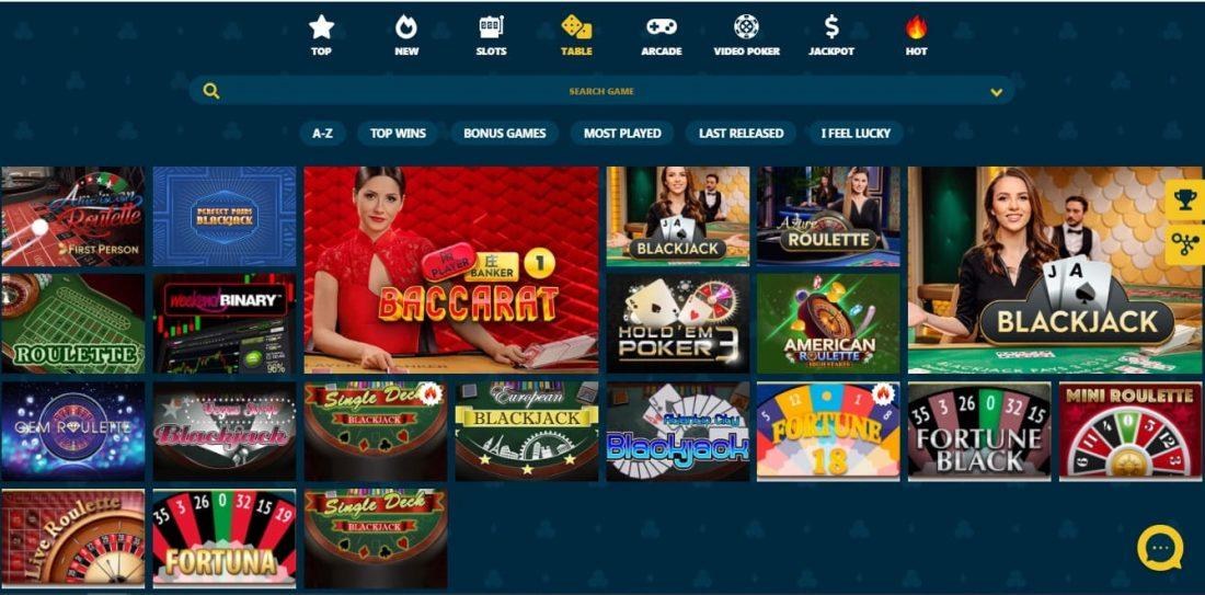 VipSpel Casino Table Games