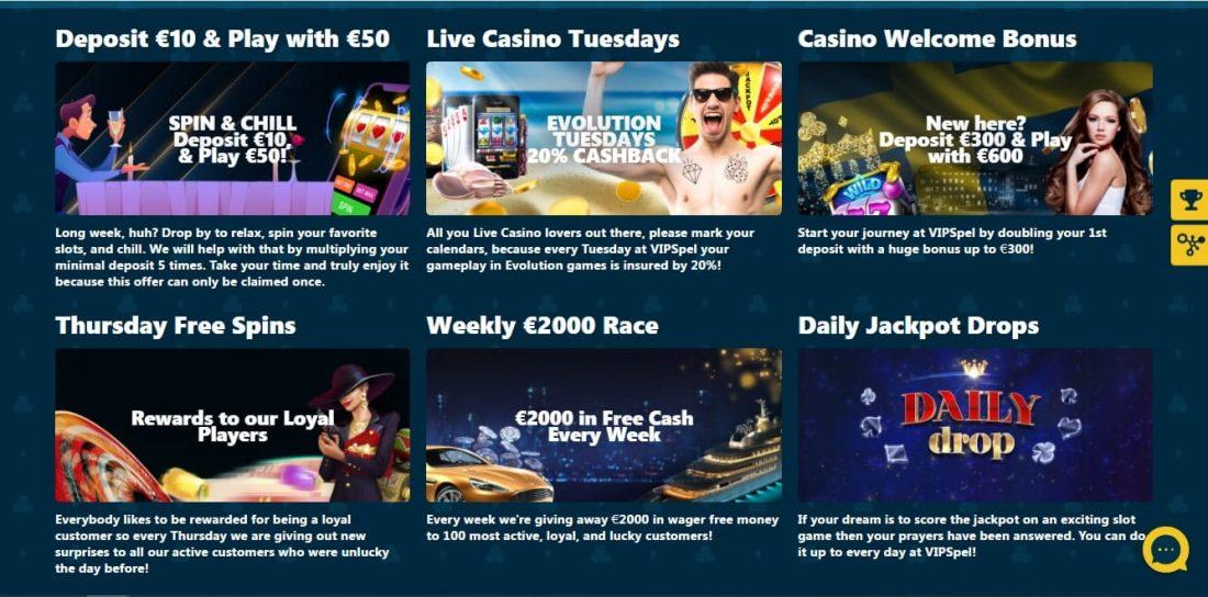 VipSpel Casino Welcome Bonus