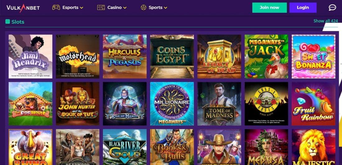 Vulkanbet Casino Games