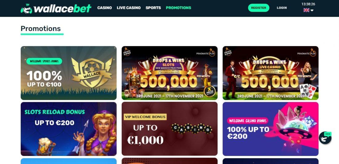 Wallacebet Casino Welcome Bonus