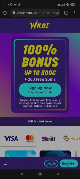 Wildz Casino Mobile App