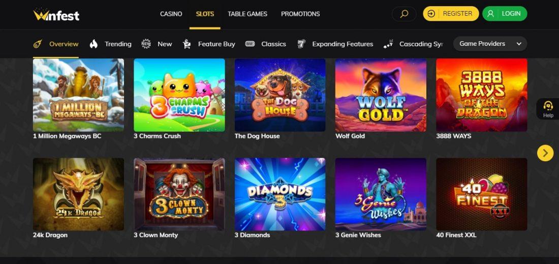 WinFest Casino Games