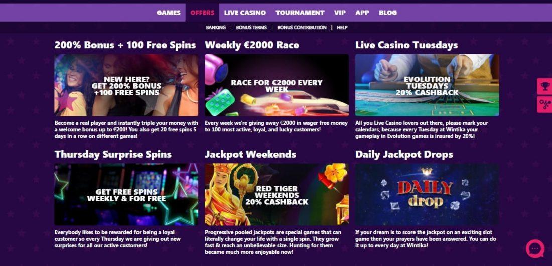 Wintika Casino Welcome Bonus