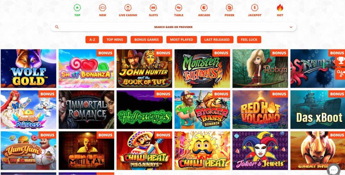Winzon Casino Games