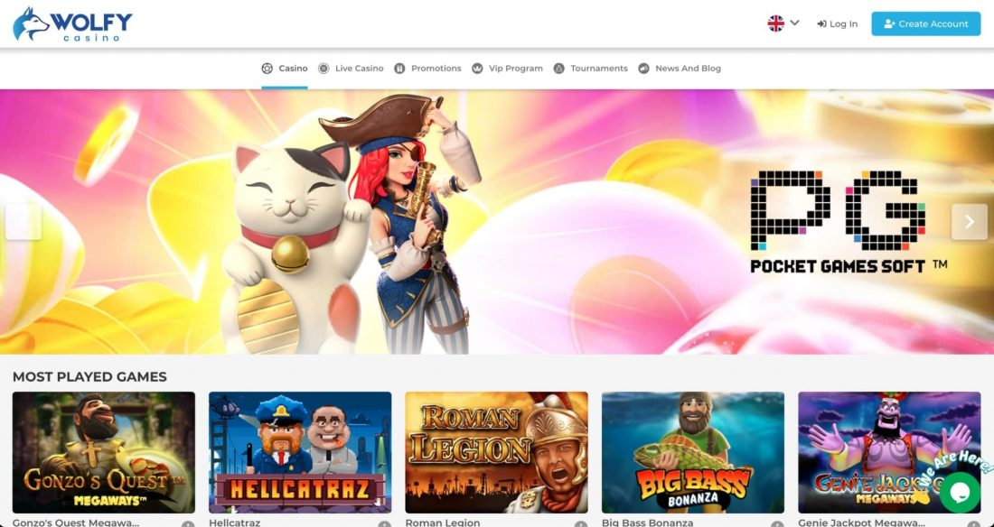Wolfy Casino Games