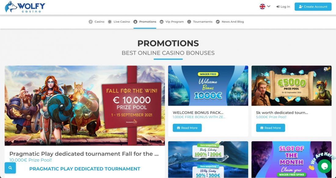 Wolfy Casino Promotions
