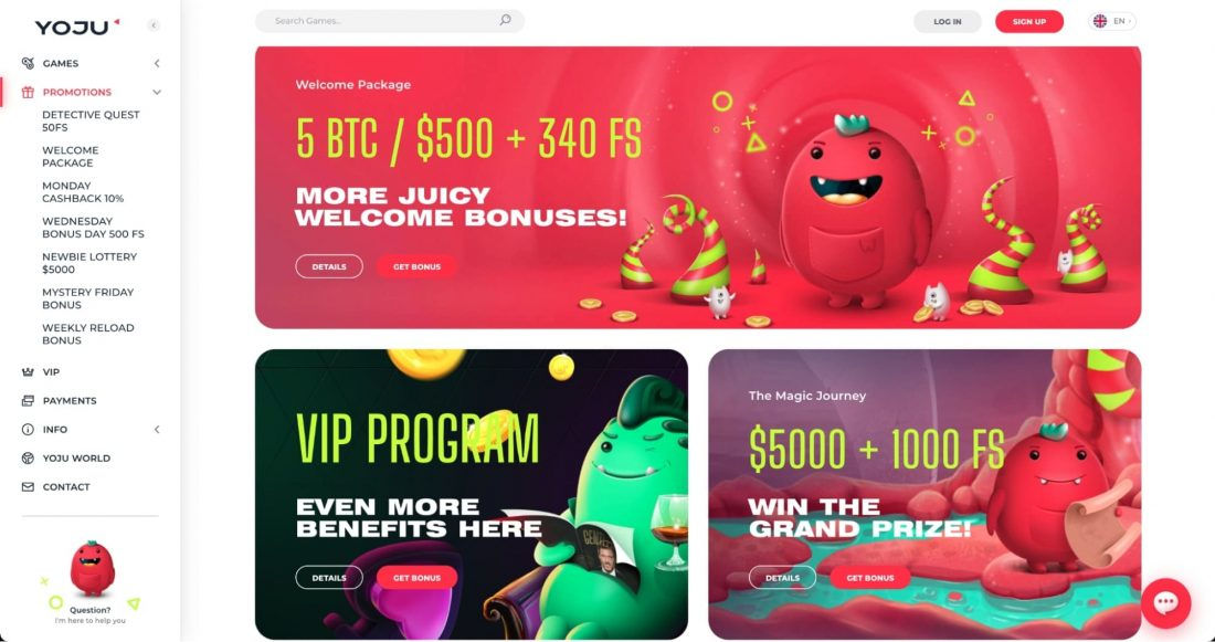 Yoju Casino Welcome Bonus