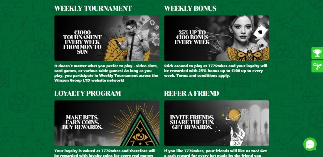 777 Stakes Casino Welcome Bonus