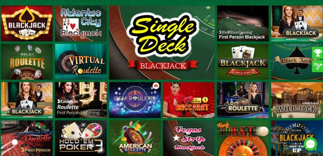 777 Stakes Table Games