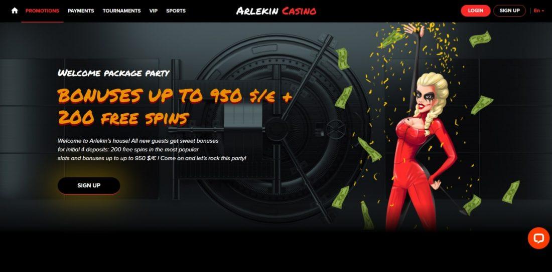 Arlekin Casino bonus program