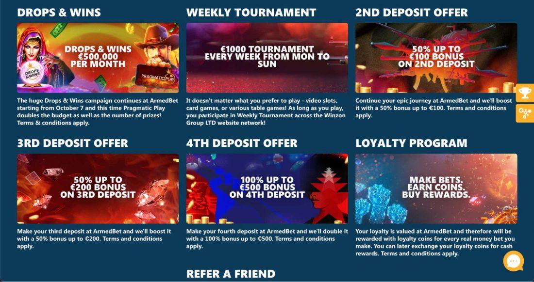 ArmedBet Casino Bonuses
