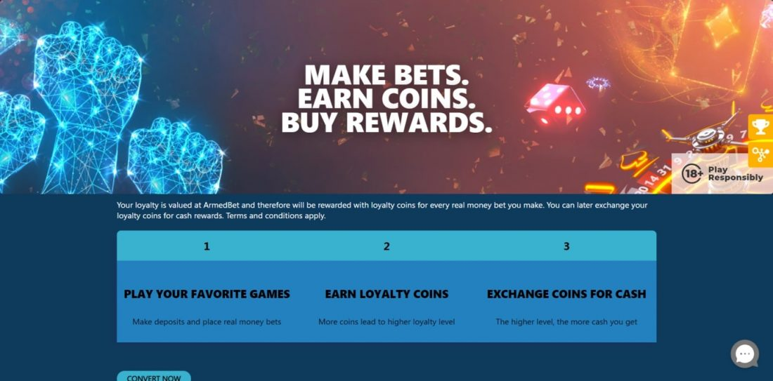 ArmedBet Casino Vip Program
