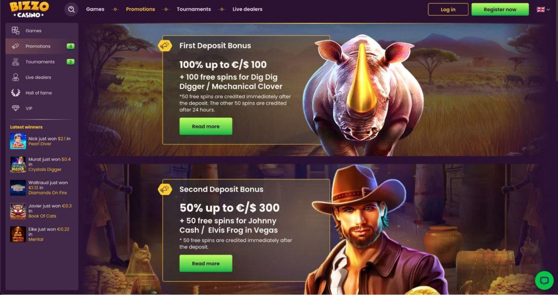 Bizzo Casino Bonuses
