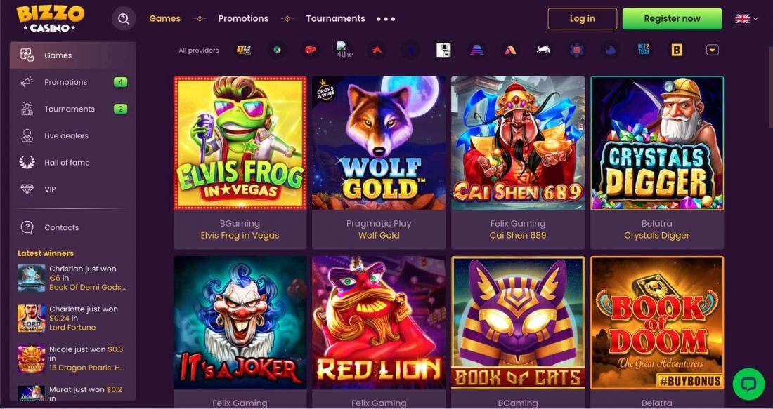 Bizzo Casino Games