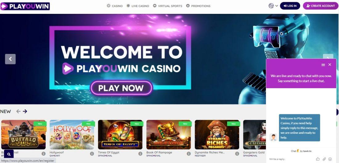 Customer Support Playouwin Casino