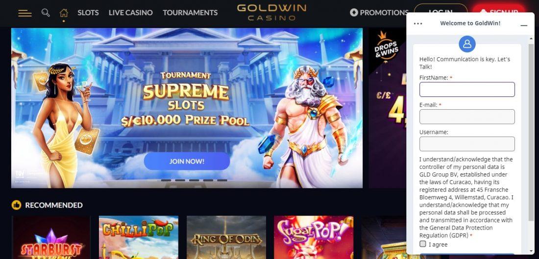 Goldwin Casino Customer Support