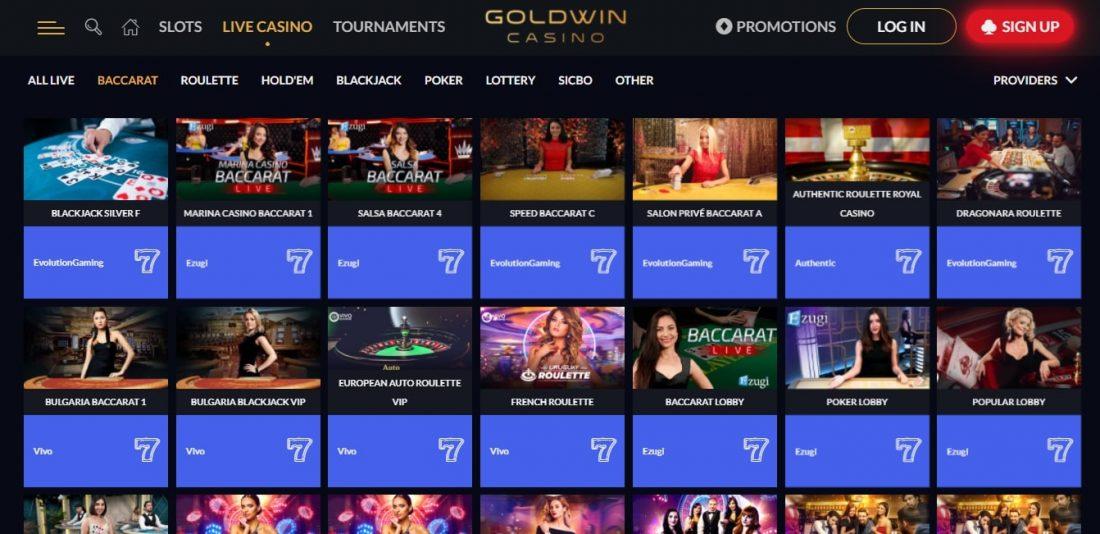 Goldwin Live Casino