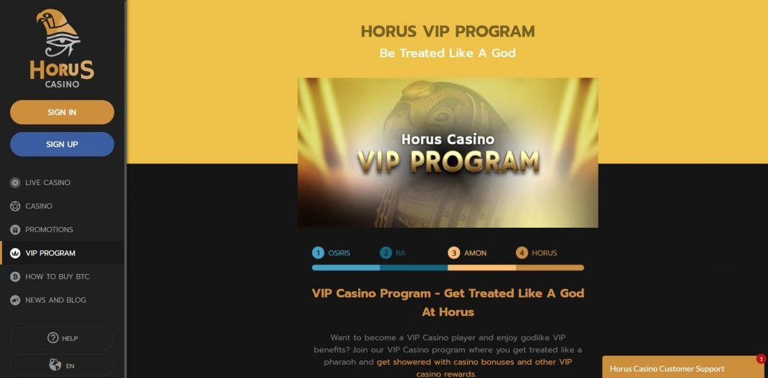 Horus Casino Vip Program