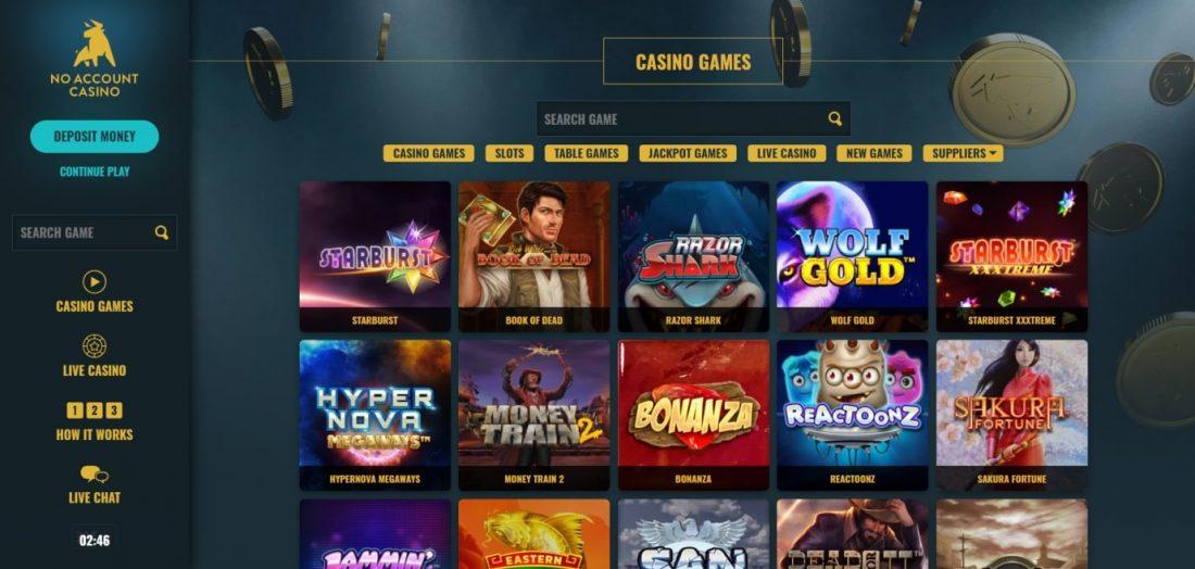 No Account Casino Games